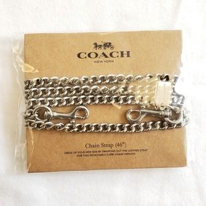 Brand new with tag Coach Silver Chain Strap